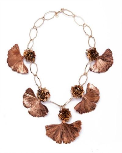 burch银杏树叶装饰长项链-轻奢网