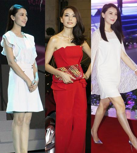 高圆圆新娘装 红白裙见分晓