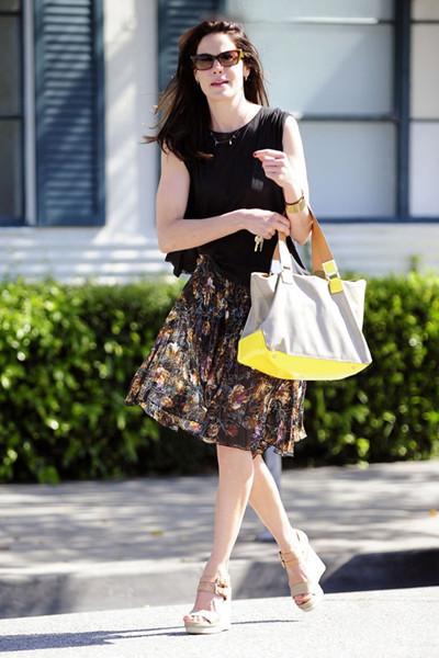 印花半身短裙