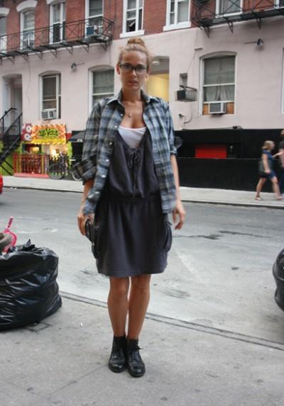 灰色吊带裙