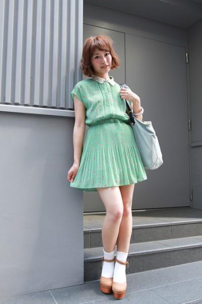 夏季清爽雪纺裙