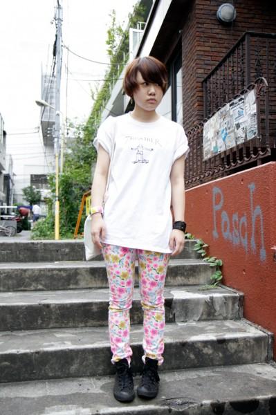 彩色印花休闲裤