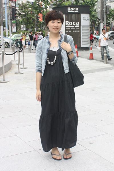 黑色复古长裙