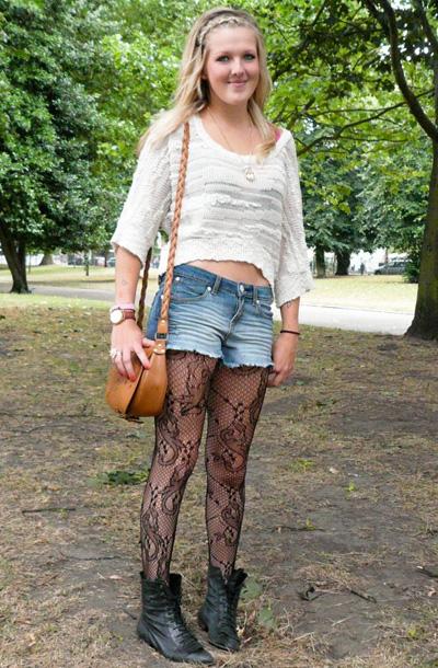 蕾丝黑网袜