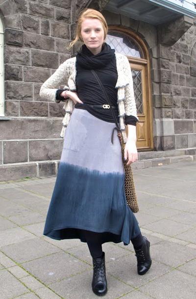 渐染色长裙
