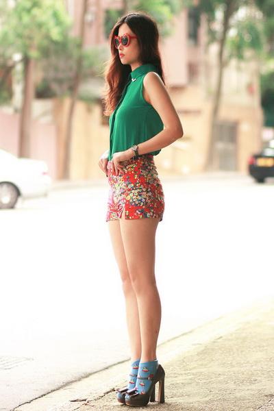 时尚达人红绿配