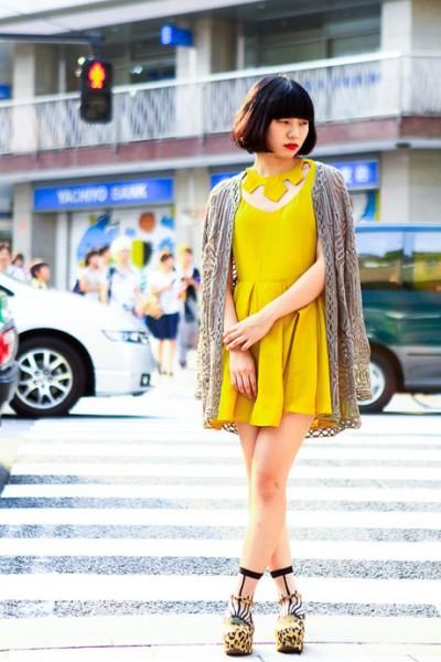 柠檬黄的时尚混搭