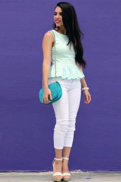 白色紧身裤