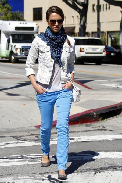 彩色休闲裤
