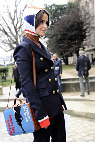 蓝色复古包